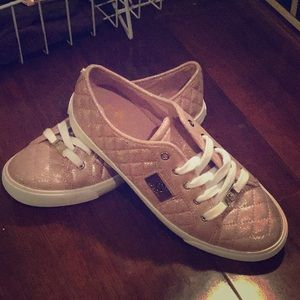 BNIB Light Pink Glittery G By Guess Sneakers